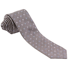 Buy Paul Costelloe Floral Silk Tie, Grey Online at johnlewis.com
