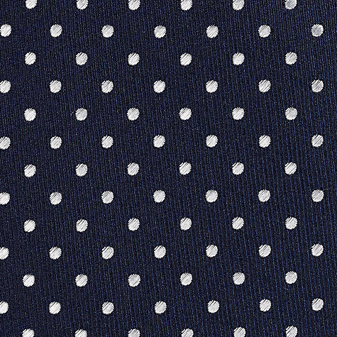 Buy Daniel Hechter Navy White Dot Tie, Navy/White Online at johnlewis.com