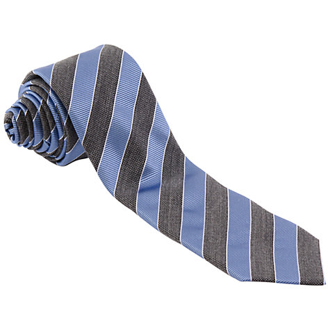 Buy Paul Costelloe Stripe Silk Tie, Grey/Blue Online at johnlewis.com