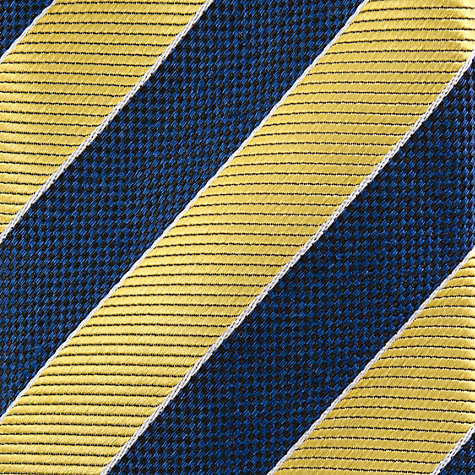 Buy Paul Costelloe Wide Stripe Tie, Navy/Yellow Online at johnlewis.com