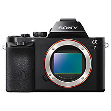 "Buy Sony Alpha ILCE-7R Compact System Camera, HD 1080p, 36.4MP, Wi-Fi, NFC, OLED EVF, 3"" Screen, Body Only Online at johnlewis.com"