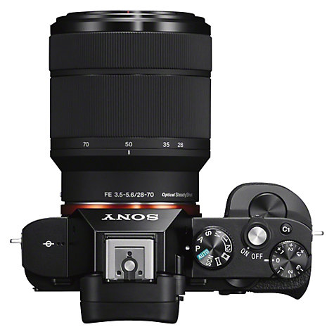 "Buy Sony Alpha ILCE-7K Compact System Camera with 28-70mm Lens, HD 1080p, 24.3MP, Wi-Fi, NFC, OLED EVF, 3"" Screen Online at johnlewis.com"