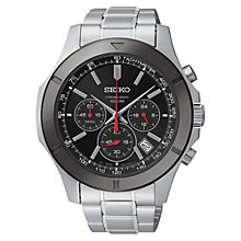 Buy Seiko SSB111P1 Men's Chronograph Stainless Steel Bracelet Watch Online at johnlewis.com