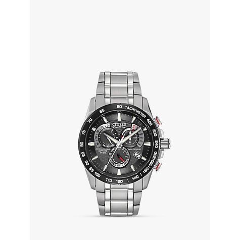 Buy Citizen AT4008-51E Men's Eco-Drive Perpetual Calendar Chronograph, Black Online at johnlewis.com