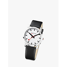 Buy Mondaine Unisex Leather Strap Watch Online at johnlewis.com