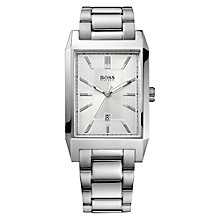 Buy Hugo Boss Men's Date Display Rectangular Bracelet Strap Watch Online at johnlewis.com