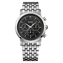 Buy Hugo Boss Men's Stainless Steel Chronograph Bracelet Strap Watch Online at johnlewis.com