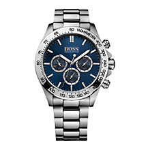 Buy BOSS 21512963 Men's Chronograph Stainless Steel Bracelet Strap Watch, Blue Online at johnlewis.com