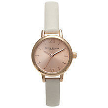 Buy Olivia Burton OB14MC021B Women's Wonderland Mini Leather Strap Watch, Rose Gold / Mink Online at johnlewis.com