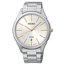 Buy Seiko SGEG71P1 Men's Classic Stainless Steel Bracelet Watch Online at johnlewis.com