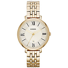 Buy Fossil Women's Jacqueline Round Dial Bracelet Strap Watch Online at johnlewis.com