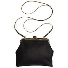 Buy Mimi Berry Gracie Leather Frame Purse, Black Online at johnlewis.com