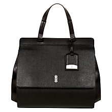 Buy Hobbs Minimal Queensbridge Leather Handbag, Black Online at johnlewis.com