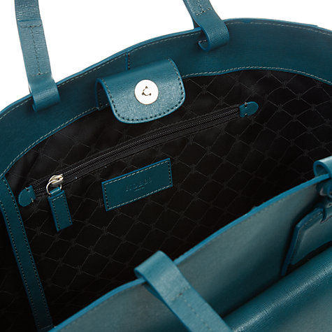 Buy Hobbs London Downham Leather Tote Handbag, Teal Online at johnlewis.com