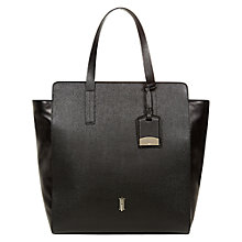 Buy Hobbs London Whiston Leather Tote Handbag, Black Online at johnlewis.com