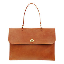 Buy Mimi Berry Minerva Large Leather Top Handle Handbag, Tan Online at johnlewis.com