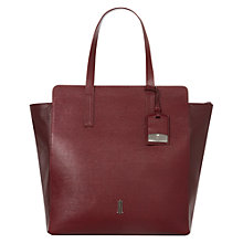 Buy Hobbs London Whiston Leather Tote Handbag, Burgandy Online at johnlewis.com