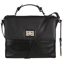 Buy Hobbs Brogue Addie Bag, Black Online at johnlewis.com