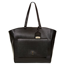 Buy Hobbs London Downham Leather Tote Bag, Black Online at johnlewis.com