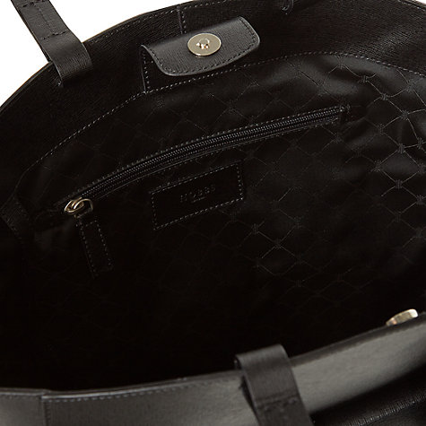 Buy Hobbs London Downham Leather Tote Handbag, Black Online at johnlewis.com