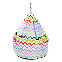 Buy little home at John Lewis Zig Zag Bean Bag Online at johnlewis.com