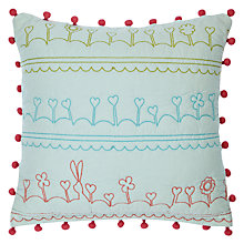 Buy little home at John Lewis Dots & Dolls Bolster Cushion Online at johnlewis.com