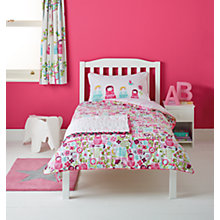 Buy little home at John Lewis Dots & Dolls Reversible Single Duvet Cover and Pillowcase Set Online at johnlewis.com