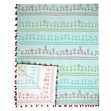 Buy little home at John Lewis Dots & Dolls Garden Rows Throw Online at johnlewis.com