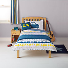 Buy little home at John Lewis Here, There & Everywhere Cars and Chevrons Single Duvet Cover and Pillowcase Set Online at johnlewis.com