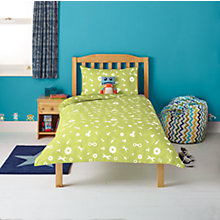 Buy little home at John Lewis Robotica Nuts and Bolts Single Duvet Cover and Pillowcase Set Online at johnlewis.com
