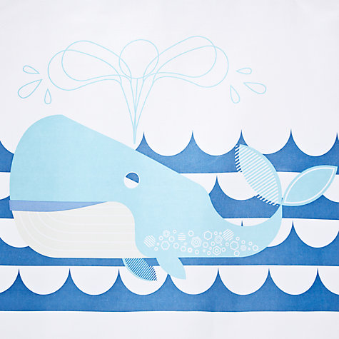 Buy little home at John Lewis Waves & Whales Spouting Whales Shower Curtain Online at johnlewis.com