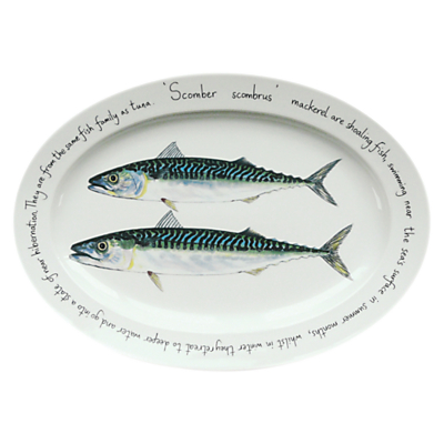 Jersey Pottery Fruits de Mer Mackerel Oval Dish