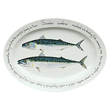 Buy Jersey Pottery Fruits de Mer Mackerel Oval Dish Online at johnlewis.com