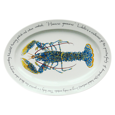 Jersey Pottery Fruits de Mer Lobster Oval Dish