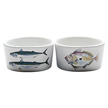 Buy Jersey Pottery Fruits de Mer Fish Ramekin, Set of 2 Online at johnlewis.com
