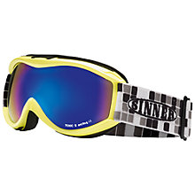 Buy Sinner Toxic Junior Ski Goggles, Grey Strap/Blue Lens Online at johnlewis.com