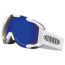 Buy Sinner Galaxy OTG Ski Goggles, Blue/White Online at johnlewis.com