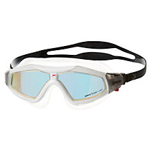Buy Speedo Rift Pro Mirror Mask Goggles, Black/Orange Online at johnlewis.com
