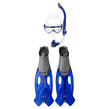 Buy Speedo Glide Mask, Snorkel & Fin Set, Blue Online at johnlewis.com