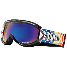 Buy Sinner Toxic Junior Ski Goggles, Multi Strap/Blue Lens Online at johnlewis.com