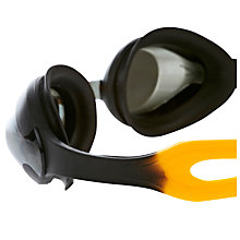 Buy Speedo Merit Mirror Goggles, Black/Green Online at johnlewis.com