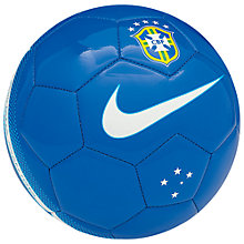 Buy Nike Brazil Supporters Football, Blue/White Online at johnlewis.com
