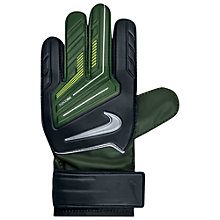 Buy Nike Junior Grip Goalkeeper Gloves, Black/Green Online at johnlewis.com