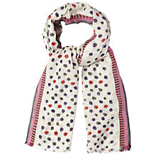 Buy White Stuff Jazzy Spot Scarf, Off White Online at johnlewis.com