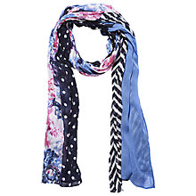 Buy Betty Barclay Floral Spot Stripe Scarf, Multi Online at johnlewis.com