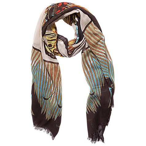 Buy Betty Barclay Long Butterfly Scarf, Nature/Brown Online at johnlewis.com