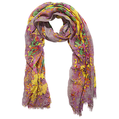 Buy Betty Barclay Long Flower Meadow Scarf, Taupe/Pink Online at johnlewis.com