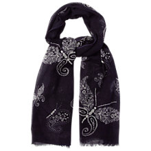 Buy White Stuff Paisley Scarf, Blackcurrant Online at johnlewis.com