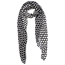 Buy Betty Barclay Long Trellis Scarf, Black/Nature Online at johnlewis.com