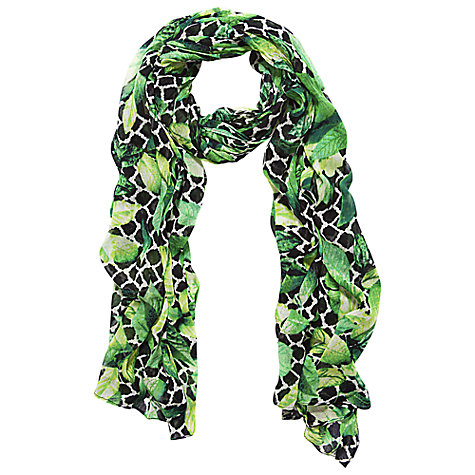 Buy Betty Barclay Long Leaf Scarf, Nature/Reed Online at johnlewis.com